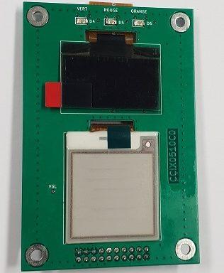 Carte électronique avec afficheur OLED et écran EPAPER